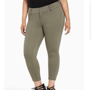 Torrid 22 Olive Green All Nighter Trouser Pants